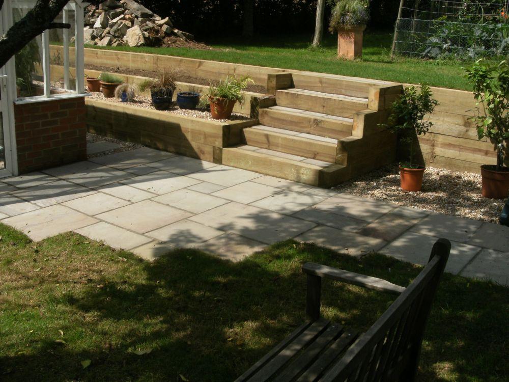 Garden Design Portfolio Sleepers Steps Amp Stone New