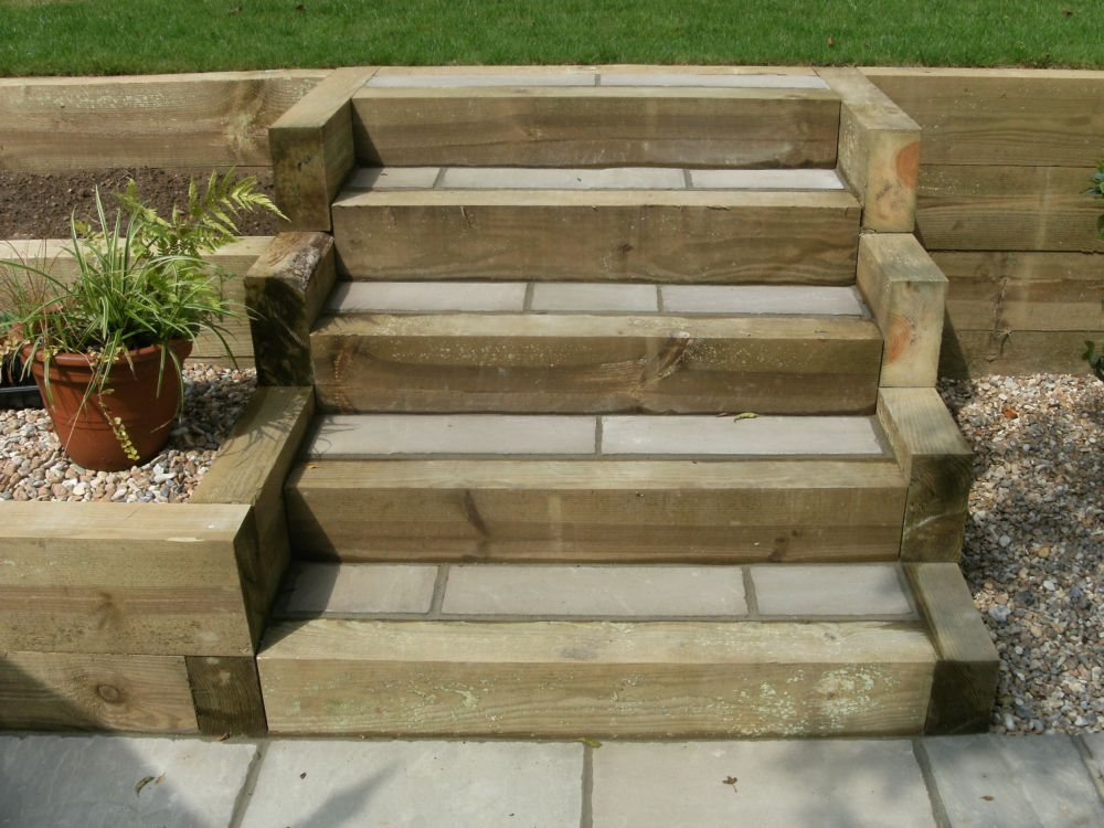 Garden Design Portfolio - Sleepers, Steps & Stone - New ...