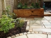 New Oak sleeper herb planters with Indian Stone Mint Fossil paving