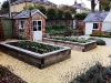 Oak vegetable beds - Romsey aggregate surfacing