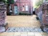 Romsey aggregate driveway - Reclaimed granite sett retainer