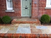 Entrance steps - Yorkstone, Brickwork