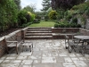 Step section built with brick risers and York stone effect paving treads