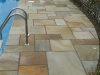 Pool side, natural stone paving