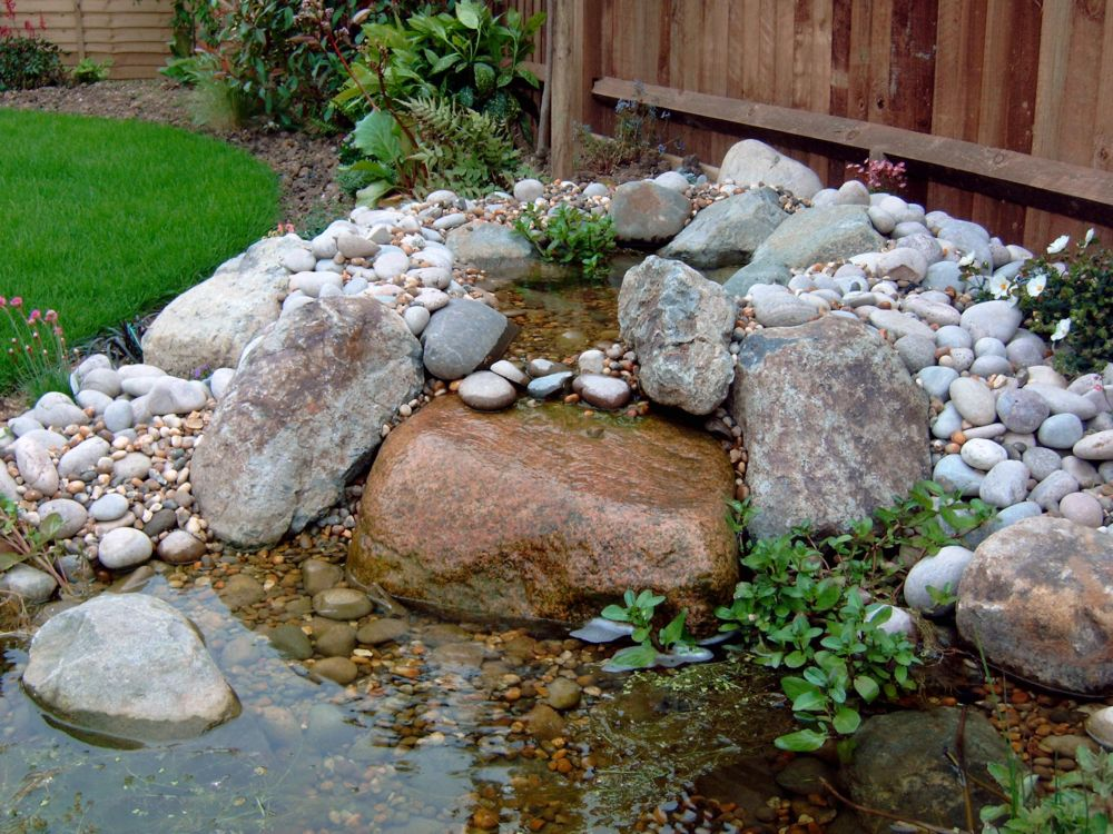 Garden design portfolio materials and features water for Garden pond materials