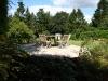 Woodland themed patio border